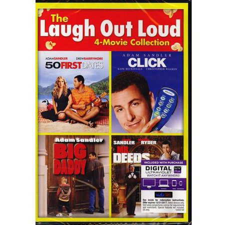 The Laugh Out Loud 4 Movie Collection  50 First Dates   Click   Big Daddy   Mr  Deeds  Dvd   Digital Copy   With Instawatch   Walmart Exclusive   Widescreen