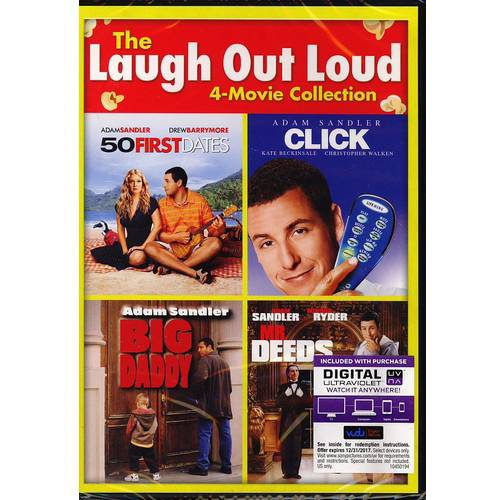 The Laugh Out Loud 4-Movie Collection: 50 First Dates / Click / Big Daddy / Mr. Deeds (DVD   Digital Copy) (With INSTAWATCH) (Walmart Exclusive) (Widescreen)