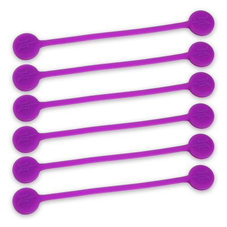 Monster Magnetics TwistieMag Magnetic Twist TIes - The Sour Grapes Collection - Purple 6 Pack - Purple Sour