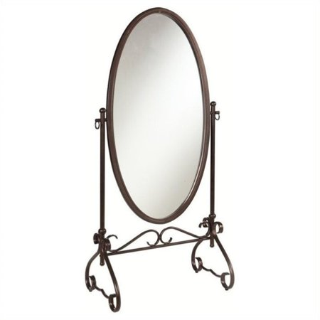 Bowery Hill Metal Cheval Mirror in Antique Brown (The Mist In The Mirror Susan Hill)