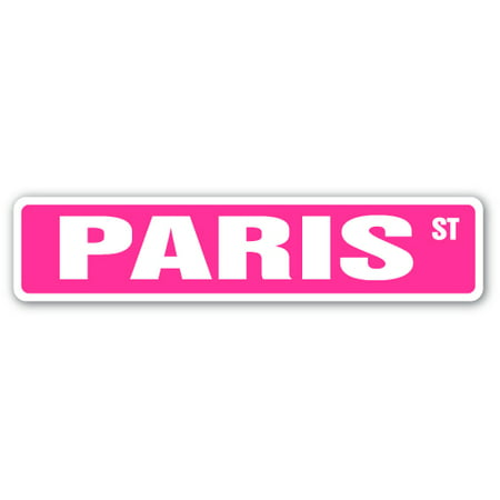 Paris Street [3 Pack] of Vinyl Decal Stickers | Indoor/Outdoor | Funny decoration for Laptop, Car, Garage , Bedroom, Offices | SignMission - Garage Decal For Halloween