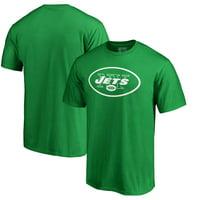 New York Jets Fanatics Branded St. Patrick's Day White Logo T-Shirt - Green