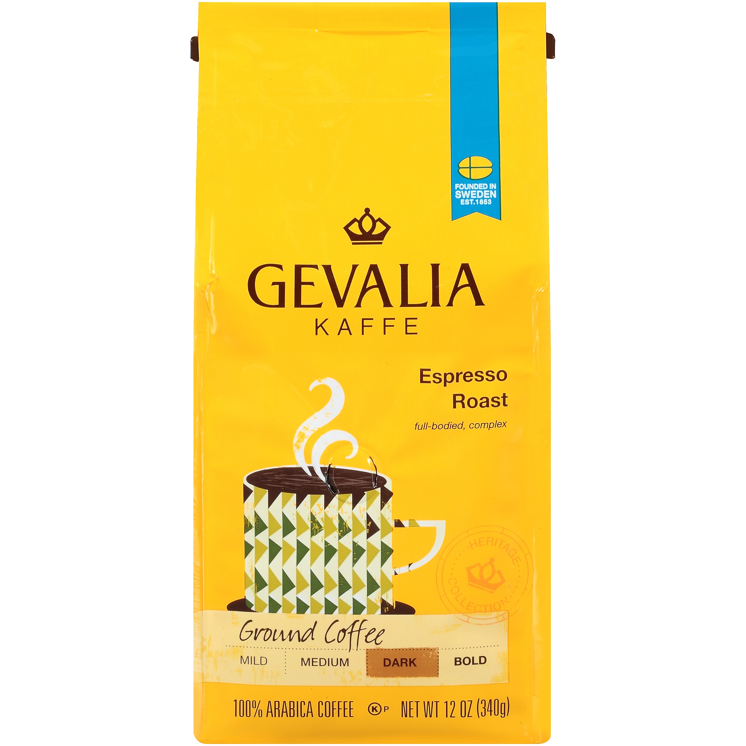 Gevalia Heritage Collection Espresso Roast Ground Coffee 12 oz. Bag