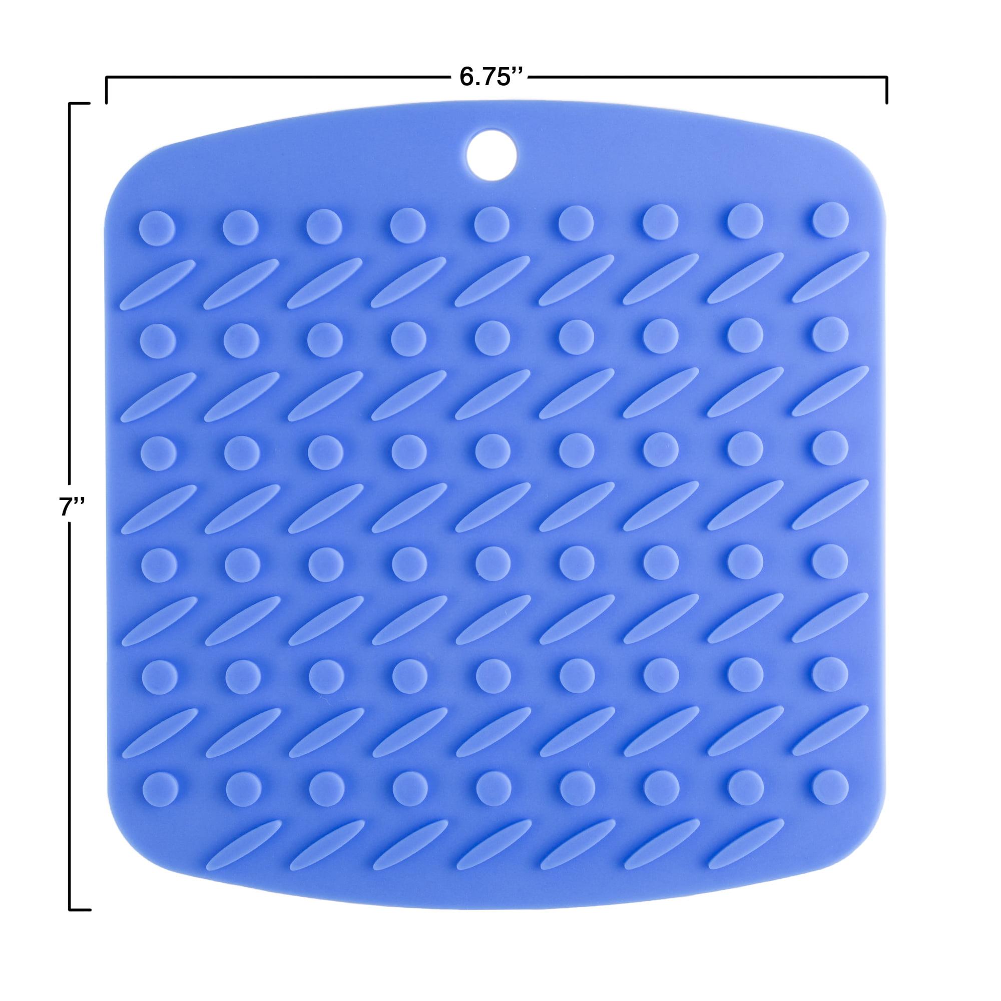 Durable ME.FAN 4 Set Silicone Pot Holders Jar Opener Spoon Rest and Kitchen Trivet Non Slip Flexible Heat Resistant Dishwasher Safe Kitchen Trivet and Pot Pads -Purple Trivet Mat
