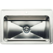 """Blanco 440276 Magnum 22"""" X 33"""" Single-Basin Stainless Steel Drop-In 1-Hole Residential Kitchen Sink, Stainless Steel"""