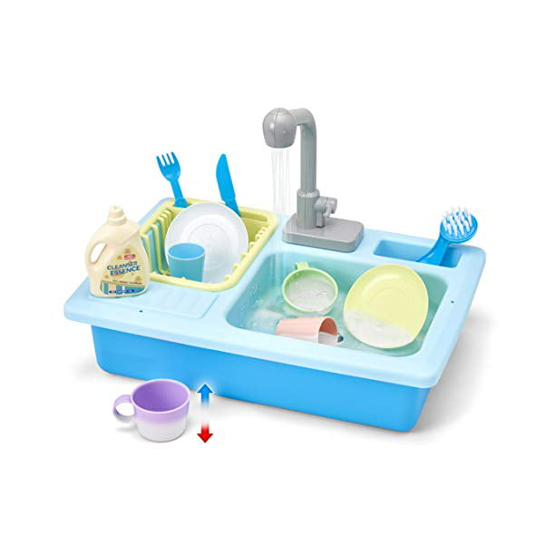 Kid Labsters Pretend Play Sink Set Pretend Kitchen Sink And Dishwashing Playset Plastic Diner And Playhouse Toy Accessories Dish Washing Working Activity Center For Kids Walmart Com Walmart Com