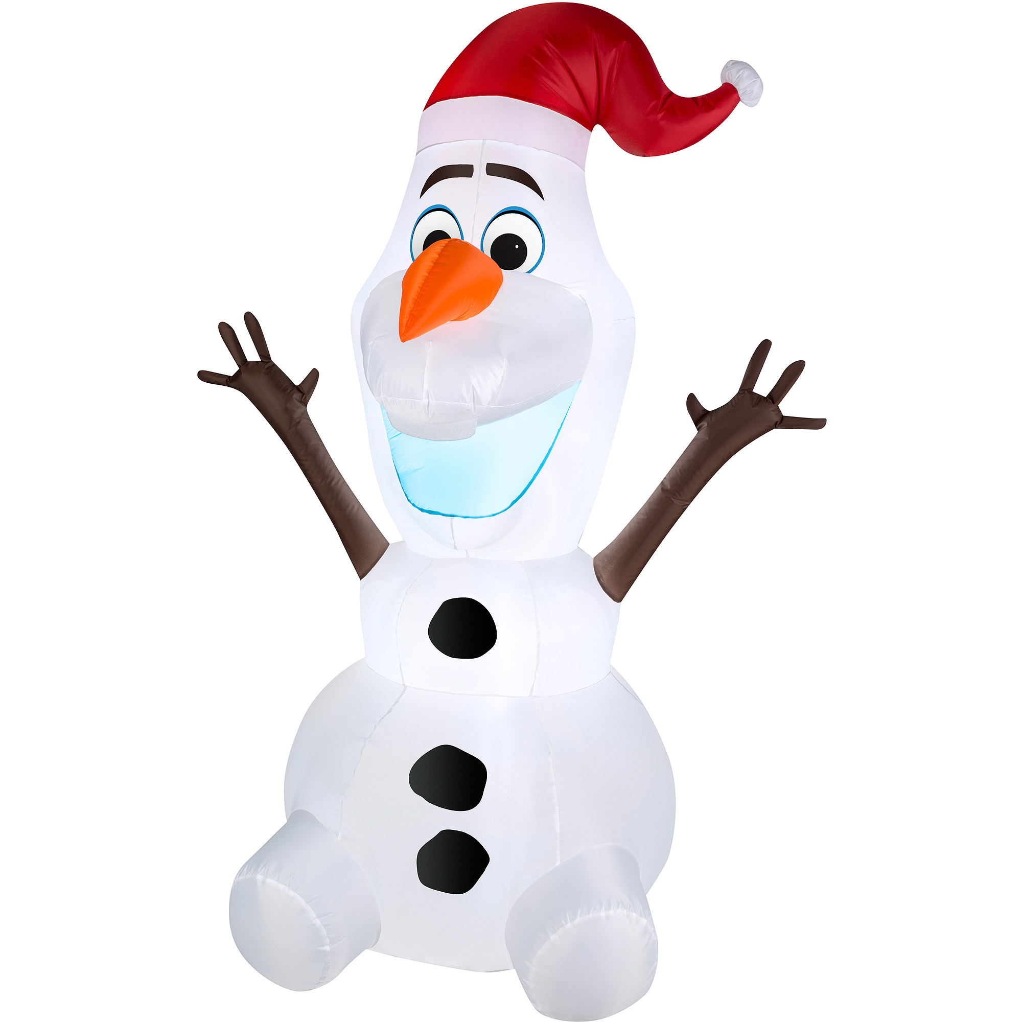 5\' Airblown Inflatable Olaf with Santa Hat Christmas - Walmart.com