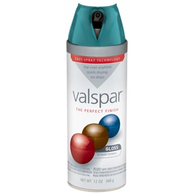 Valspar Brand 410-85089 SP 12 Oz Tropical Oasis Gloss Premium Enamel Spray Paint - Pack of 6
