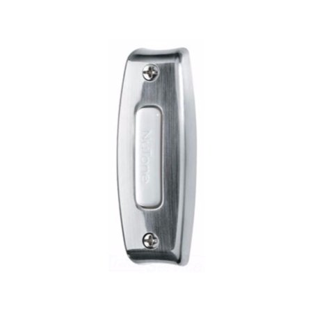 Rectangular Doorbell - Nutone PB7LSN Lighted Rectangular Door Chime Pushbutton Satin Nickel