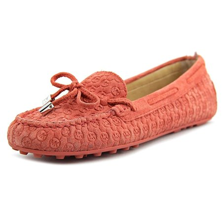 Michael Kors Suede Flats (Michael Michael Kors Daisy Embossed Suede Moccasin)