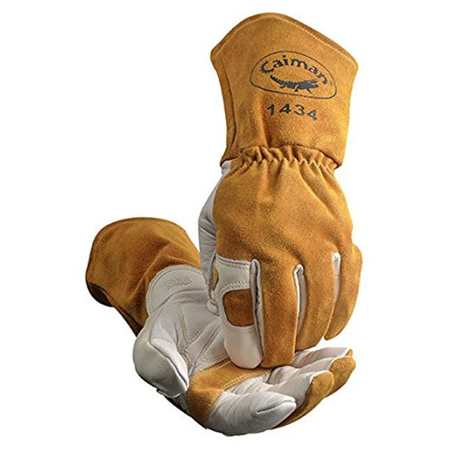 Caiman 607-1434-5 Top Grain Cowhide Fleece Lined Kontour Pattern Glove, Extra Larg710927143451e - image 1 of 1