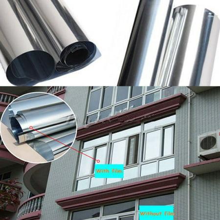 Solar Window - 70% VLT Solar Reflective One Way Mirror Privacy Window Film Insulation Stickers Window Decorative