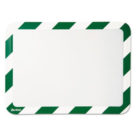 Tarifold P194945 High Visibility Safety Frame Display Pocket-Magnet Back, 10.25 x 14.5, Green & White