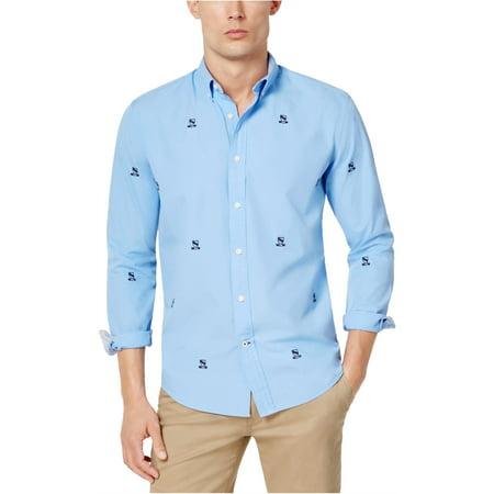Tommy Hilfiger Mens Johnson Crest Critter Button Up Shirt