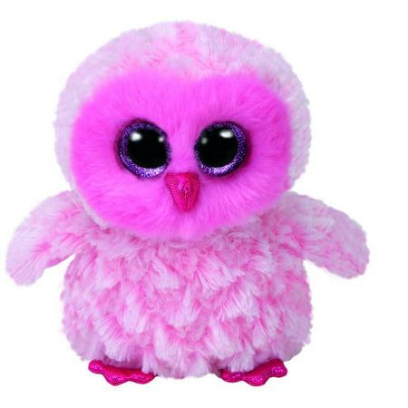 TY Beanie Boos - Twiggy the Pink Owl (Glitter Eyes) Small 6