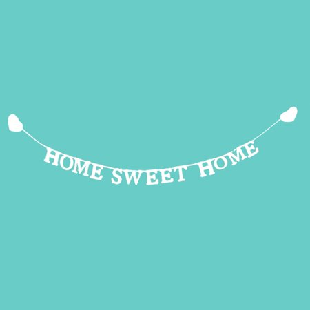 """Vintage """"Home Sweet Home"""" Wedding Banner Party Decor Bunting Photo Booth Props - image 8 of 10"""