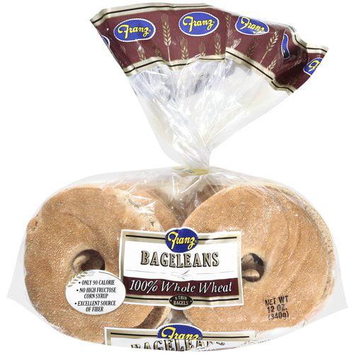 Franz 100% Whole Wheat Bageleans, 12 oz