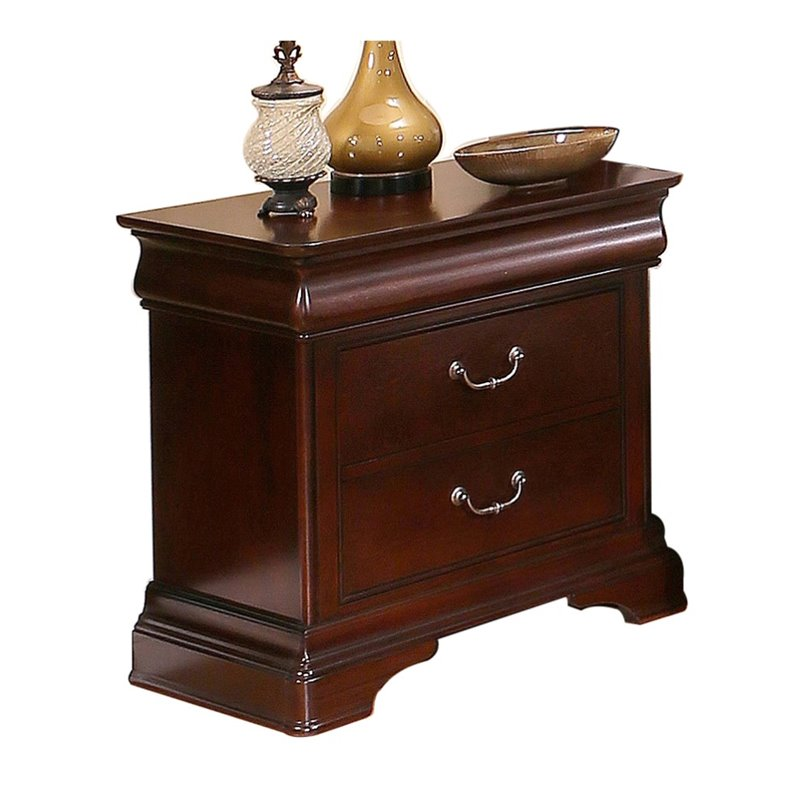 Abbyson Sabrely 2 Drawer Nightstand in Brown