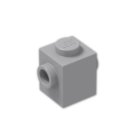 Brick Building Sets Original Lego Parts: Brick, Modified 1 x 1 with Studs on 2 Sides, Opposite (47905 - Pack of 8pcs) (Light Bluish Gray)