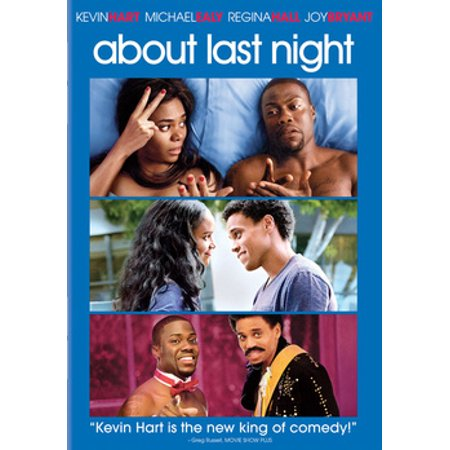 About Last Night (DVD) A modern reimagining of the classic romantic comedy, this contemporary version closely follows new love for two couples as they journey from the bar to the bedroom and are eventually put to the test in the real world.