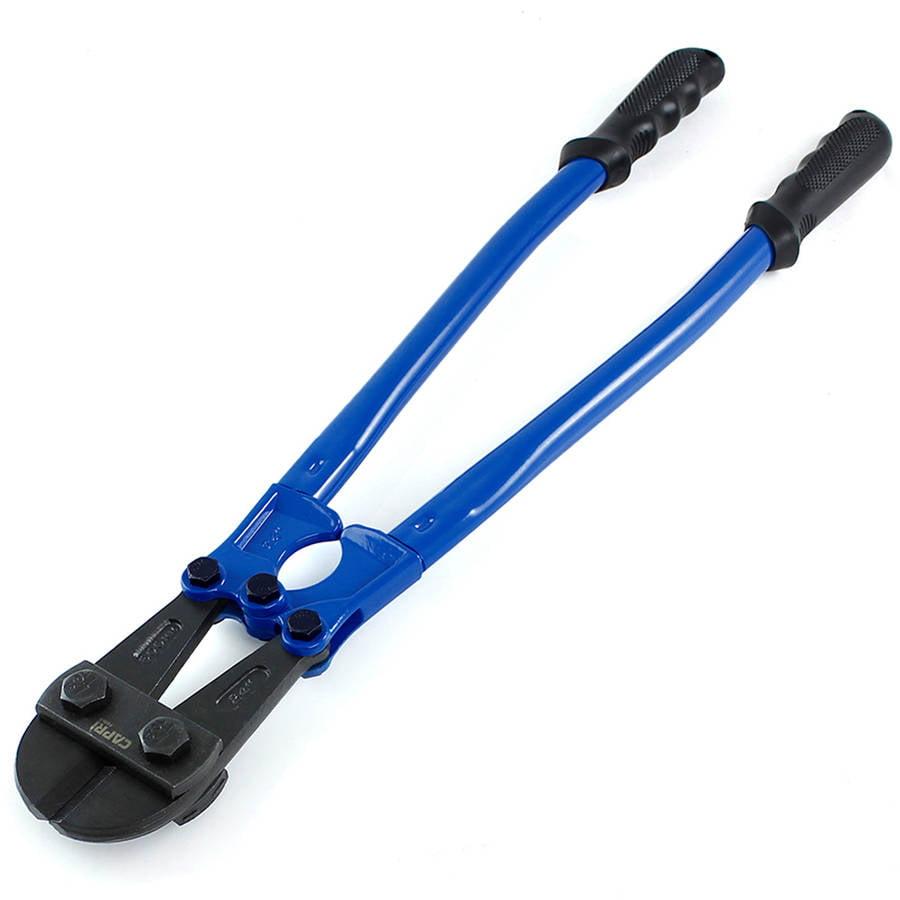 "Capri Tools 40203 Chrome Molybdenum Serrated Blades Bolt Cutter, 24"", Blue"