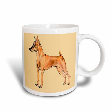 3dRose Red Miniature Pinscher, Ceramic Mug, 11-ounce
