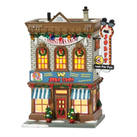 department 56 a christmas story village lit miniature building joke shop