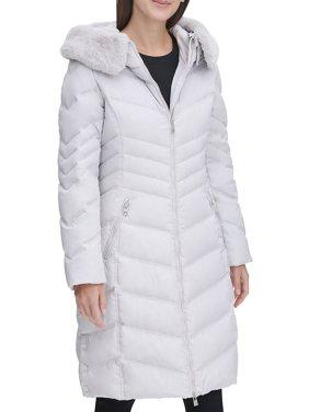 Faux Fur-Trim Down-Filled Puffer Jacket