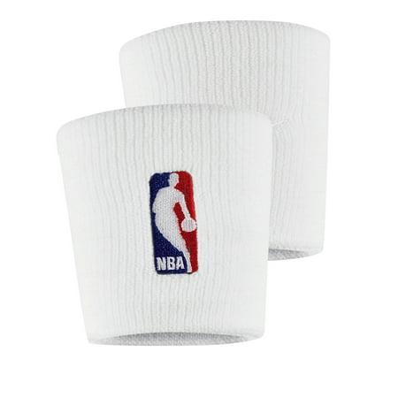 Nike Double Wide Wristbands - NBA Nike Wristbands - White - No Size