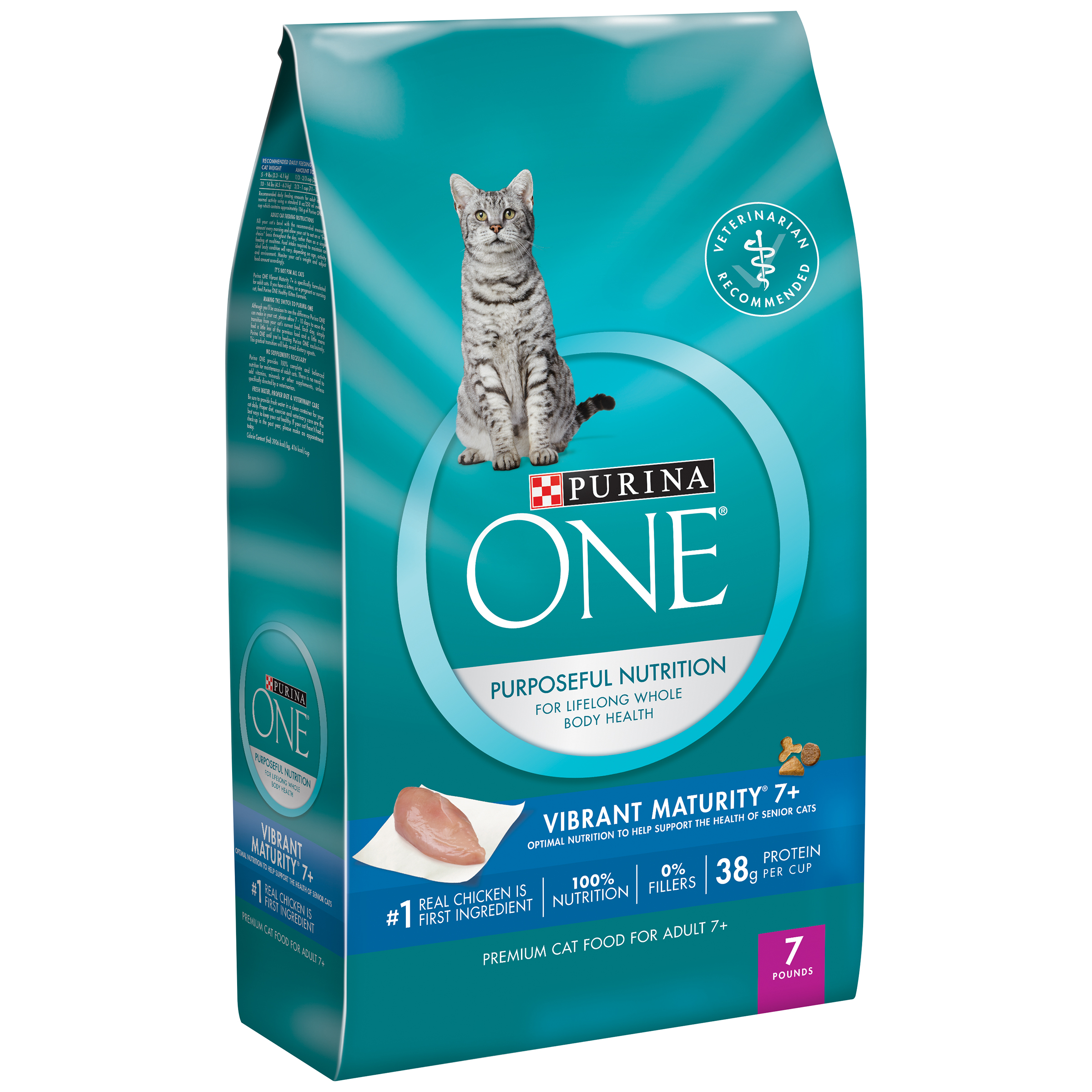 Purina ONE Vibrant Maturity 7+ Adult Premium Cat Food 7 lb. Bag