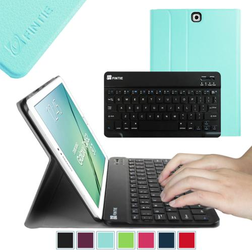 Samsung Galaxy Tab S2 9.7 SM-T810 T815 Tablet Keyboard Case - Fintie Smart Shell Cover with Bluetooth Keyboard, Blue