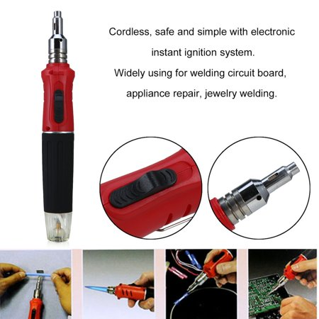 Portable Gas Soldering Iron Set Professional Torch Welding