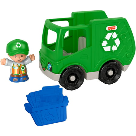 Fisher-Price Little People Recycle Truck Push-Along Vehicle