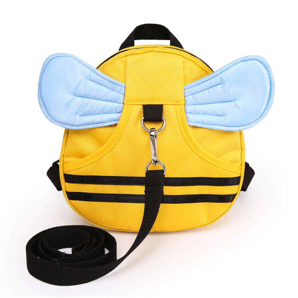 Anti Lost Kids Backpack Cute Bee Baby Safety Keeper Toddler Walking Satchel Bag Strap by