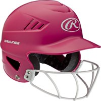 Rawlings Pink Fastpitch Softball Helmet with Face Guard