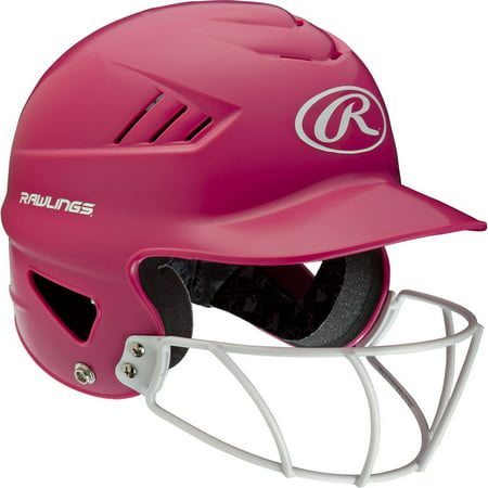 Rawlings Pink Fastpitch Softball Helmet with Face (Baseball Base Coachs Helmets)