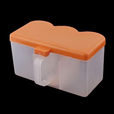 Kitchen Plastic Spices Container Box Condiment Dispenser Holder Orange 2pcs - image 1 of 3
