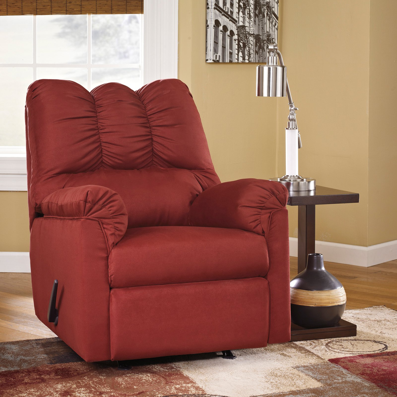 Signature Design by Ashley Darcy Fabric Rocker Recliner
