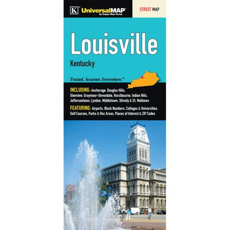Universal Map Louisville Fold Map  Set Of 2
