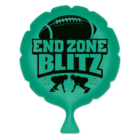 "Pack of 6 Green ""End Zone Blitz"" Whoopee Cushion Football Party Favors 8"