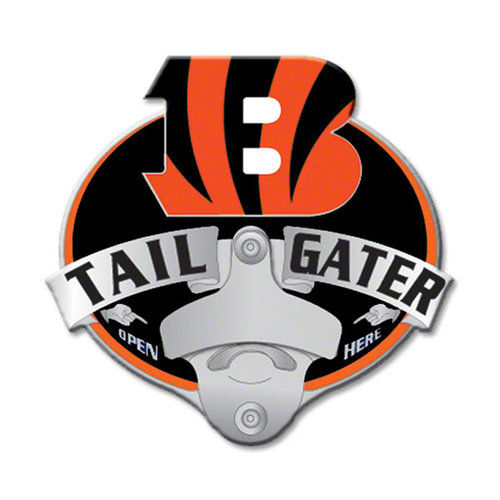 Cincinnati Bengals Official NFL  Tailgater Hitch Cover w/Bottle Opener by Siskiyou