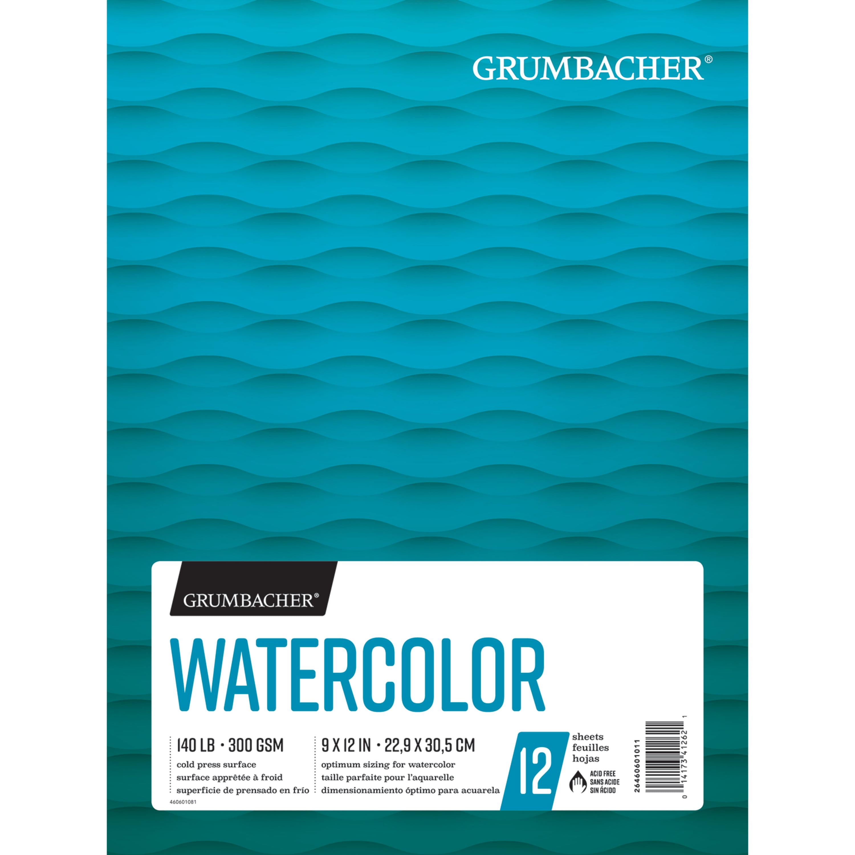 """Grumbacher Watercolor Pad, 9"""" x 12"""", 12 Sheets/Pad"""