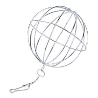1pc Stainless Steel Round Sphere Feed Dispense Exercise Hanging Hay Ball Guinea Pig Hamster Rat Rabbit Pet Toys
