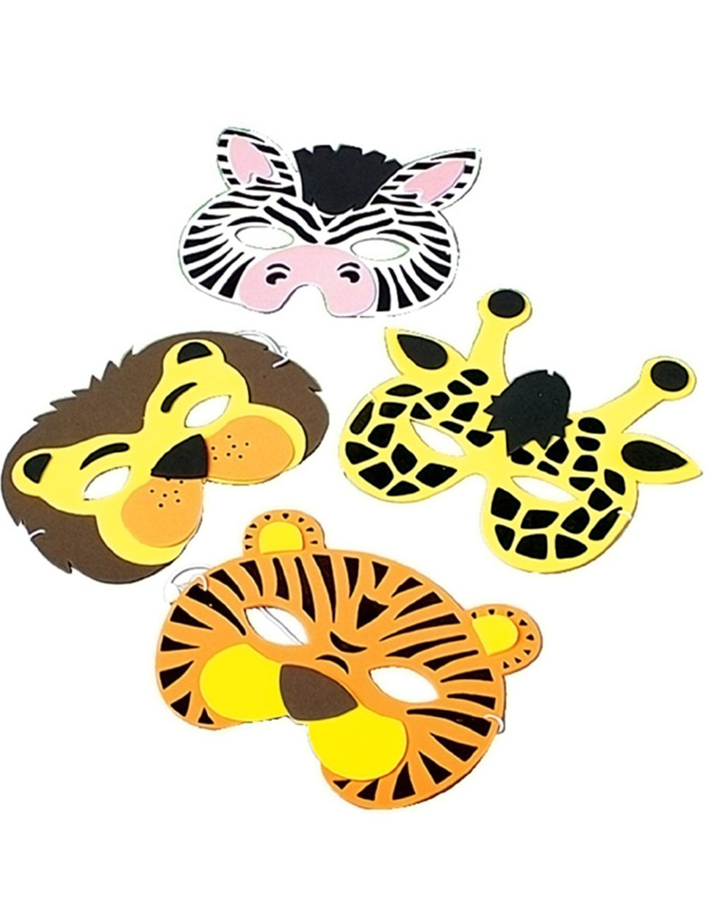set of 12 new halloween costume party foam animal masks walmart com