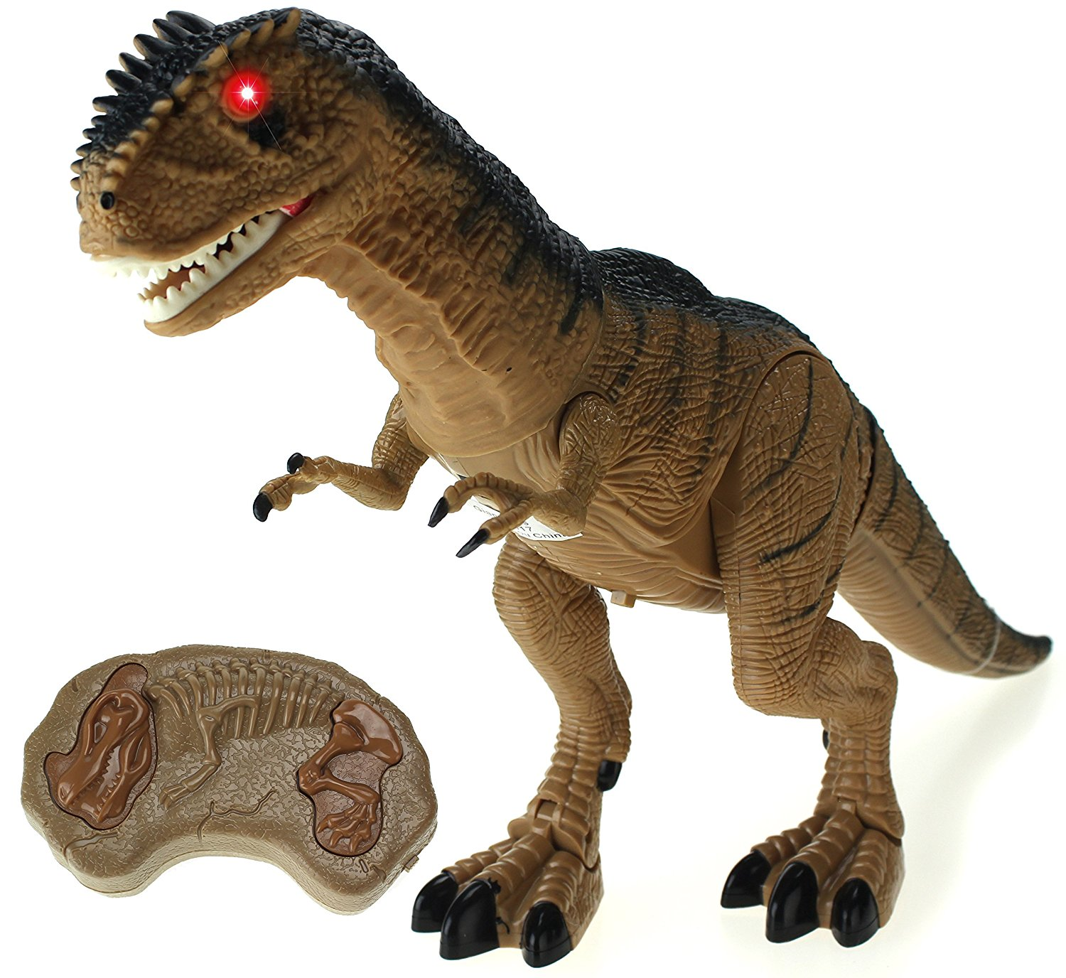 Dinosaur Planet Remote Controlled Battery Operated RC Toy Allosaurus Figure w/Shaking Head, Walking Movement, Light Up Eyes & Sounds