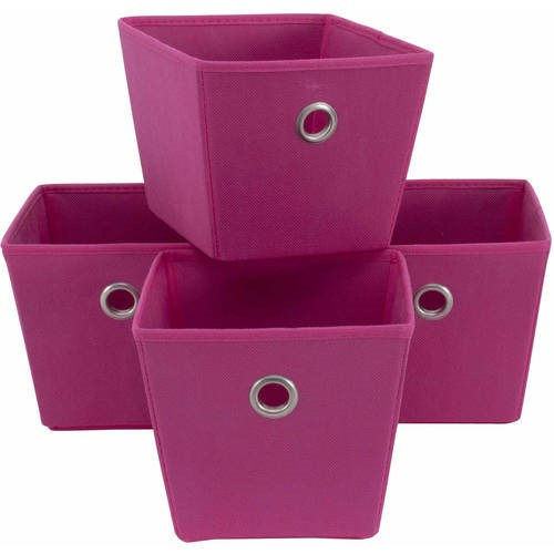 Mainstays Non-Woven Bins, 4-Pack, Multiple Colors