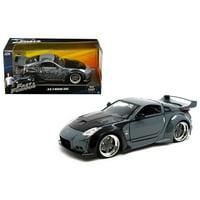 "D.K.'s Nissan 350Z Black ""Fast & Furious"" Movie 1/24 Diecast Model Car by Jada"