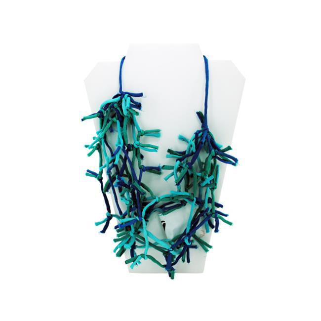 Bulk Buys BG419-12 Turquoise Knotted Necklace