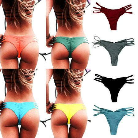 The Noble Collection Women Thong Cheeky Bikini Bottom Beachwear Brazilian
