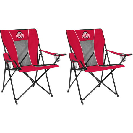 Logo Brands NCAA Ohio State Game Time Chairs, 2 Chair Bundle